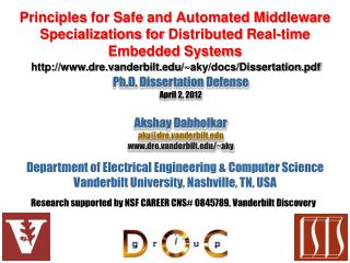 Principles for Safe and Automated Middleware Specializations for Distributed Real-time Embedded Systems