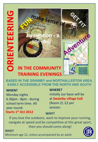 IN THE COMMUNITY  TRAINING EVENINGS