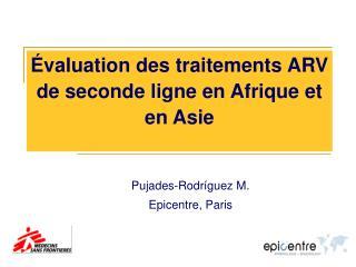 valuation des traitements ARV de seconde ligne en Afrique et en Asie