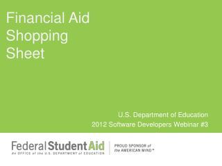 U.S. Department of Education 2012 Software Developers Webinar 3