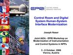 Control Room and Digital System Human-System Interface Modernization