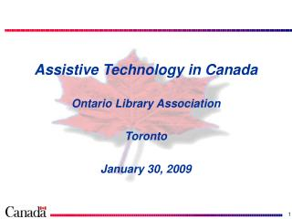 Assistive Technology in Canada