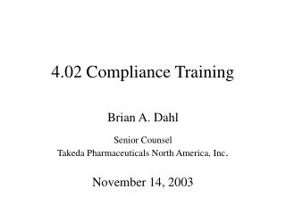 4.02 Compliance Training