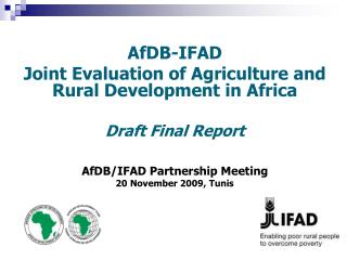 AfDB-IFAD  Joint Evaluation of Agriculture and Rural Development in Africa   Draft Final Report    AfDB
