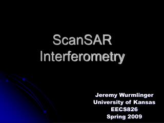 ScanSAR Interferometry