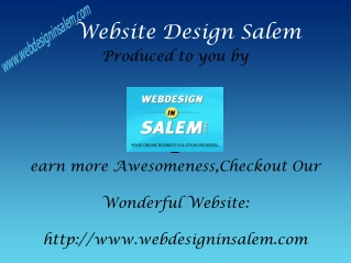 Web Design Salem