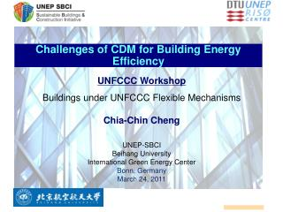 Challenges of CDM for Building Energy Efficiency