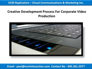 Creative Development Process For Corporate Video Production