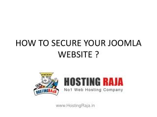 How to Secure Your Joomla Website?