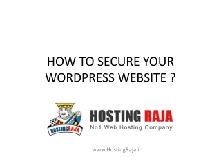 How to Secure Your WordPress Website?