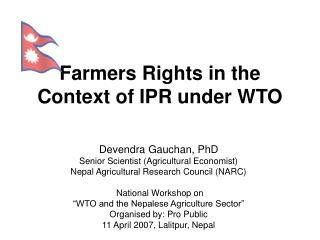 Farmers Rights in the Context of IPR under WTO