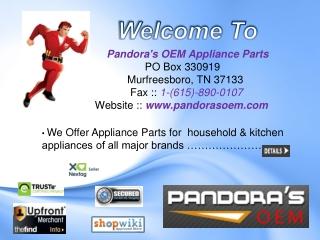 Home Appliances Repairing Parts seller muffesboro