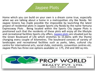 Jaypee Plots Conform Booking Call @9910007460