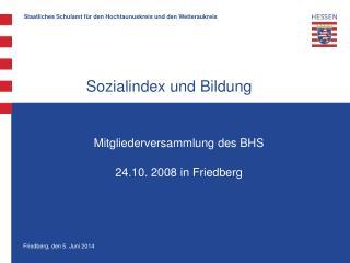 Sozialindex und Bildung