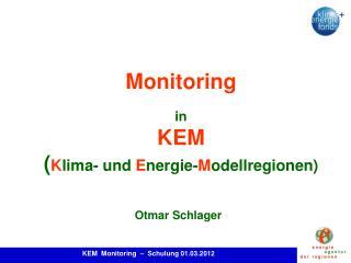 Monitoring  in KEM Klima- und Energie-Modellregionen