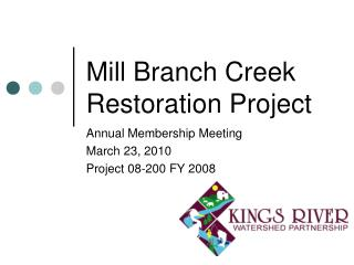 Mill Branch Creek Restoration Project