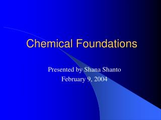 Chemical Foundations