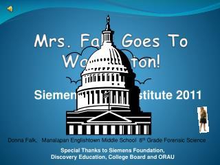 Mrs. Falk Goes To Washington