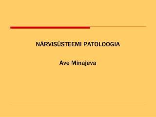 N RVIS STEEMI PATOLOOGIA  Ave Minajeva