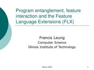 Program entanglement