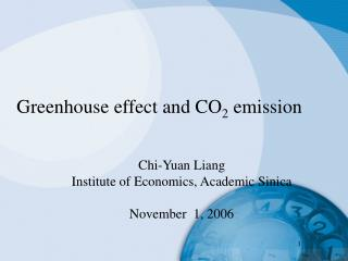 Greenhouse effect and CO2 emission
