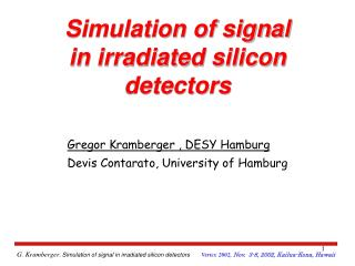Simulation of signal in irradiated silicon detectors