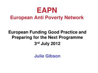 EAPN European Anti Poverty Network
