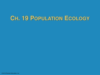 Unit II:  Population Ecology