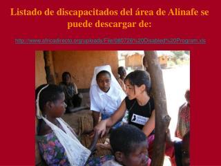 Listado de discapacitados del  rea de Alinafe se puede descargar de: