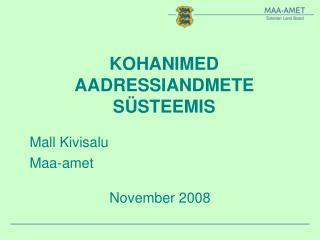 KOHANIMED AADRESSIANDMETE S STEEMIS