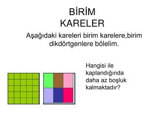 BIRIM KARELER