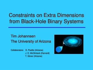Constraints on Extra Dimensions from Black-Hole Binary Systems