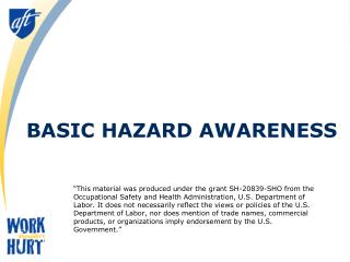 Basic Hazard Awareness