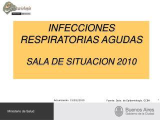 INFECCIONES RESPIRATORIAS AGUDAS  SALA DE SITUACION 2010