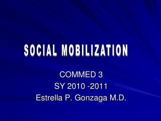 COMMED 3  SY 2010 -2011 Estrella P. Gonzaga M.D.