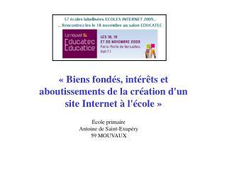 Ecole primaire Antoine de Saint-Exup ry 59 MOUVAUX