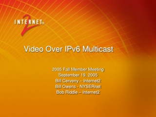 Perspectives of IPv6 in