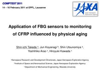 Application of FBG sensors to monitoring of CFRP influenced by physical aging