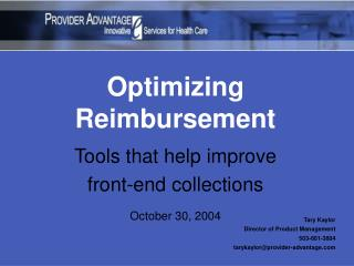 Optimizing Reimbursement