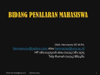 BIDANG PENALARAN MAHASISWA