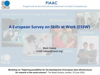 A European Survey on Skills at Work ESSW