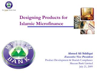 Designing Products for Islamic Microfinance