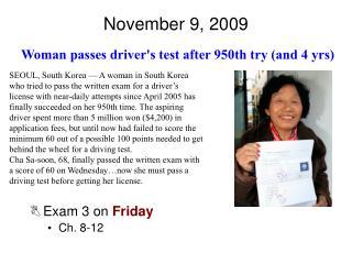 November 9, 2009