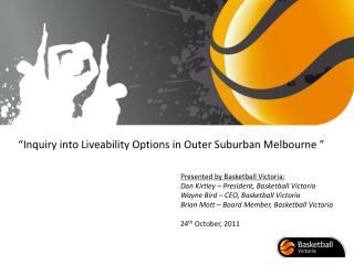 Inquiry into Liveability Options in Outer Suburban Melbourne