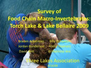 Survey of Food Chain Macro-Invertebrates:  Torch Lake  Lake Bellaire 2009