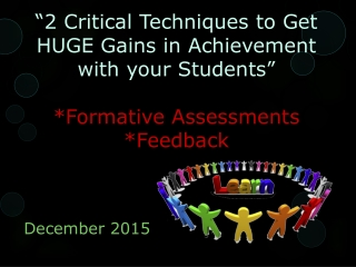 The Pivotal Role of Formative Assessment in Improving Achievement