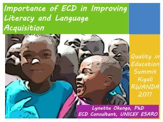 Importance of ECD in Improving Literacy and Language Acquisition
