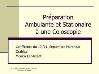 Pr paration  Ambulante et Stationaire   une Coloscopie