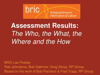 Assessment Results: The Who, the What, the Where and the How
