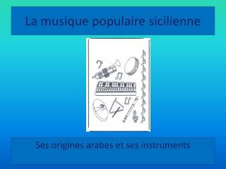 La musique populaire sicilienne